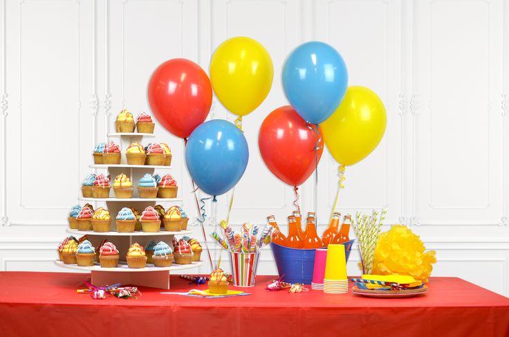 Birthday Party Dessert Table - 5 Tier Round Cupcake Stand