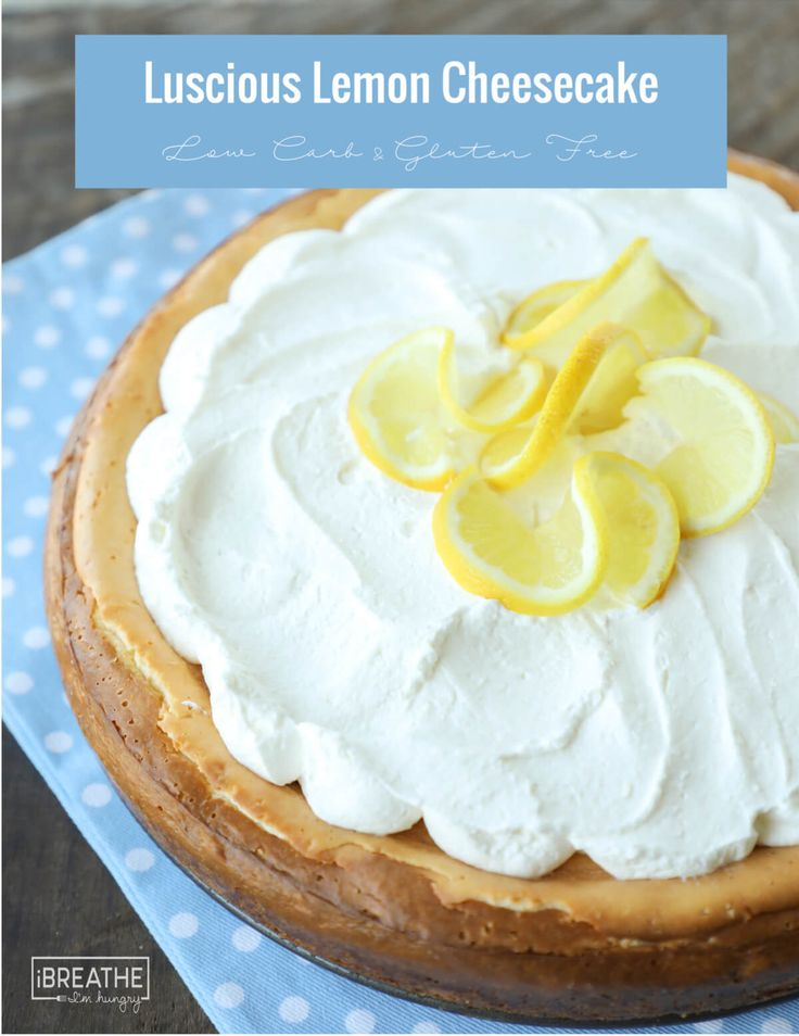 This easy lemon cheesecake is made in your blender! Low Carb and Keto #ibih #dessert #keto #lowcarb #lowcarbcheesecake #easydessert #lemon #lemondessert #cheesecake