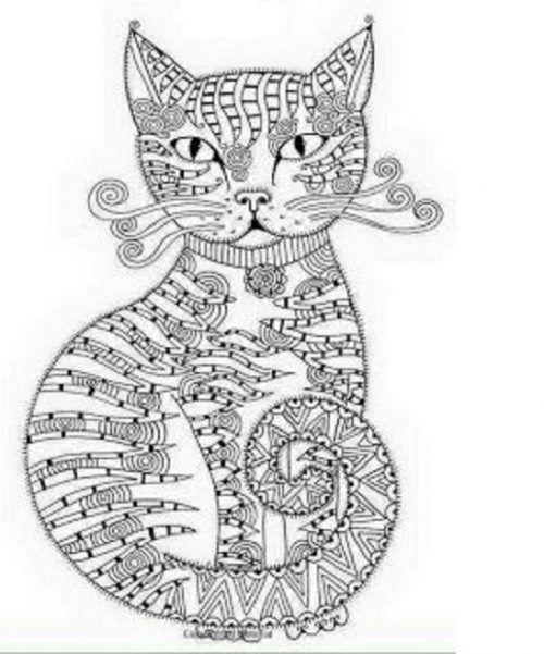 Ausmalbilder Katzen Für Erwachsene Ausmalen Malvorlagen Painting