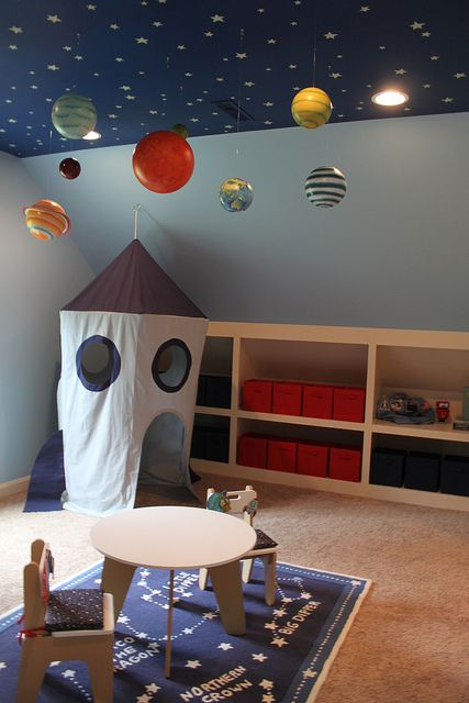 Love the ceiling for a little kid's room!