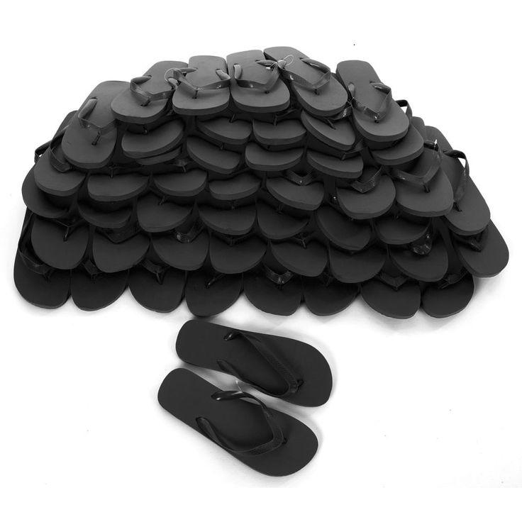 Black Flip Flops - Bulk Buy - 40 Pairs - Only £1.20 per pair