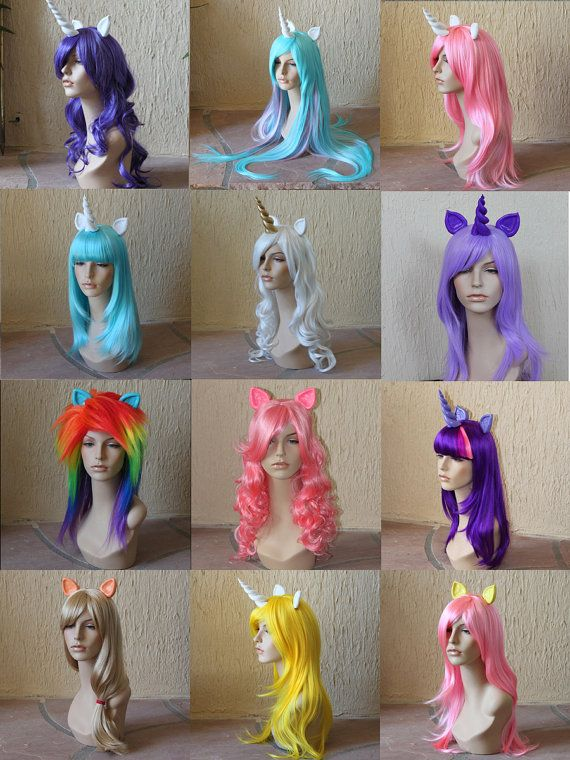 My Little Pony wigs - I'm not sure when I will have a use for these, but If I ever do, I'll be ready!