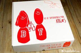 Kit de supervivencia para grandes amigos. I like the  way box !