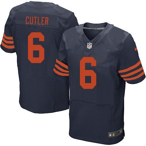 Men's Nike Chicago Bears #6 Jay Cutler 1940s Limited Throwback Alternate Navy Blue Jersey $69.99