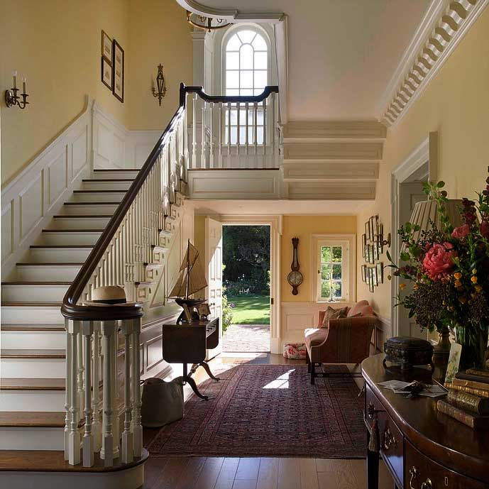 54 Best Colonial Foyer Images On Pinterest Stairs Entry Hall And Entryway Stairs