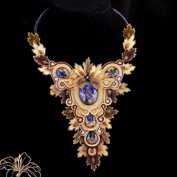 soutache necklace   author: Zuzana Hampelova Valesova (Lillian Bann)   www.z-art-eshop.cz   http://www.facebook.com/pages/Z-ART/539656212733510