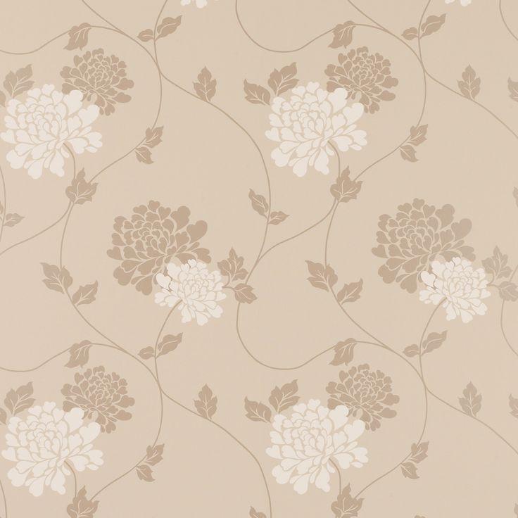 laura ashley isodore truffle floral wallpaper - Buscar con Google