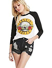 New fancy-mano Fashion Women's Vintage Guns N' Roses Print Long Sleeve Casual Slim T-Shirt Tops online. Find the perfect Beyove Tops-Tees from top store. Sku EZGW66554WRFZ62943