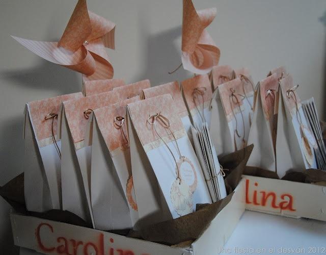 Paquetes de regalo bautizo
