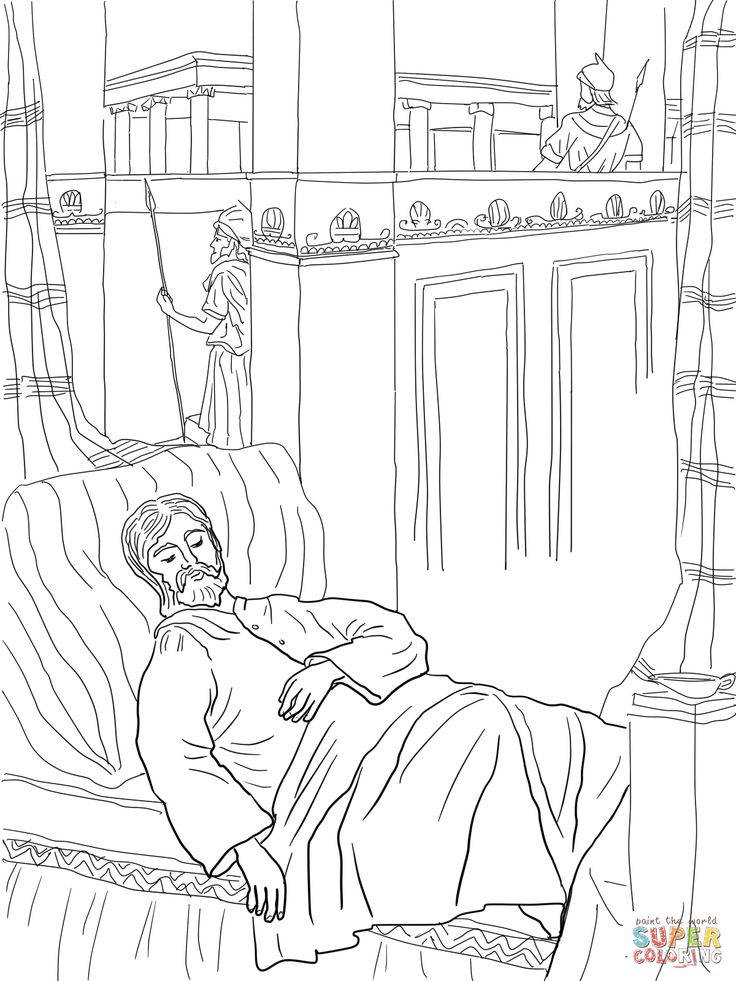 Solomon Asks For Wisdom Coloring Page