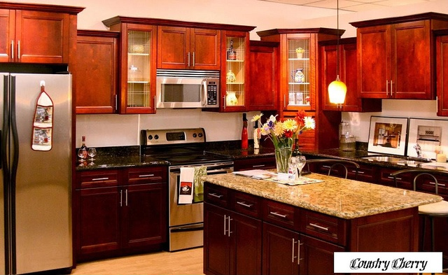 All Wood Kitchen Cabinets line
