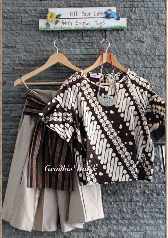 Batik Top & Cullote By Gendhis's Batik.