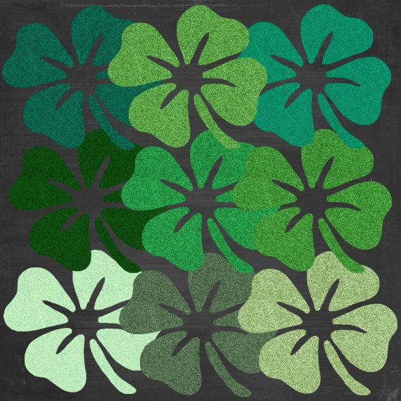 With this listing, youll receive:  9 green glitter shamrocks as shown in the listing photo (png files)  This clipart is for small commercial use which is defined as:  Items purchased for small commercial use may be used to create End Products for Sale where lifetime sales of the End Product do not exceed 500 units.  Please contact us if you have any questions. Thanks