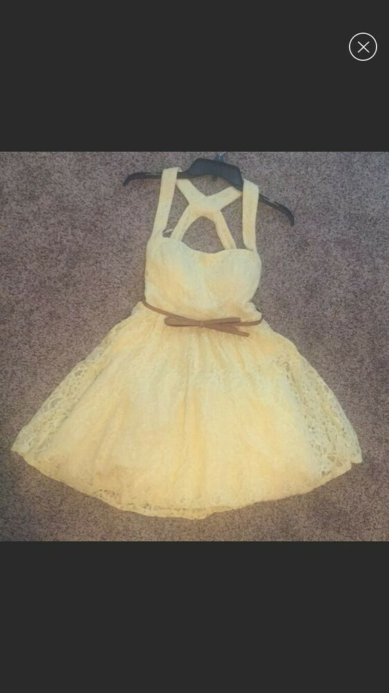 9fc42302f Juniors/women's pastel yellow Easter dress mid thigh length size 3 #fashion  #clothing