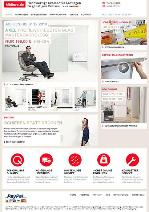 Onlineshop für Schiebetürsysteme nach Maß mit Online-Konfigurator: Kunden können Schiebetürsysteme völlig individuell online planen und bestellen. Echtzeitpreisberechnung inklusive by #acid21 - #onlineshop #mass #customization #corporate #design #software