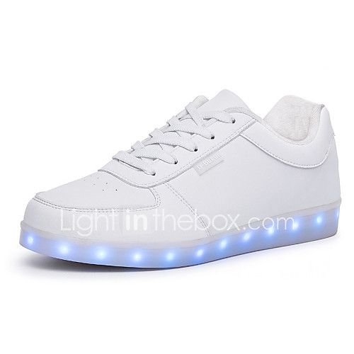 Unisex Sneakers Walking Light Up Shoes Comfort PU Spring Summer Fall Winter Athletic Casual Outdoor LED Lace-up Flat Heel White Black Flat - USD $19.99 ! HOT Product! A hot product at an incredible low price is now on sale! Come check it out along with other items like this. Get great discounts, earn Rewards and much more each time you shop with us!
