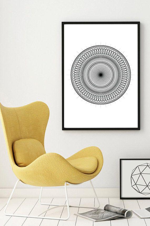 Spirograph Abstract Art  Printable 24 x 36 by NordicPrintStudio