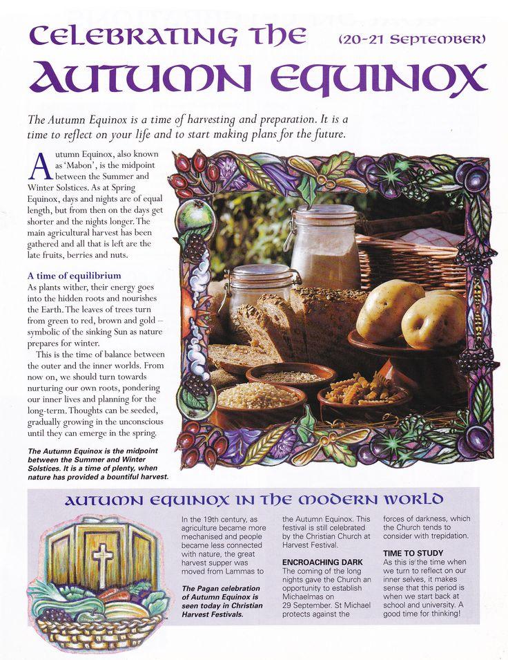 Autumn Equinox:  Celebrating the #Autumn #Equinox.