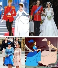 I'm sure the princesses are lovely, wonderful women. But this will NEVER stop being funny!: Thoughts, Real Life, Too Funny, Kate Middleton, Cinderella Wedding, Royals Wedding, Prince Charms, Disney Movie, Fairies Tales