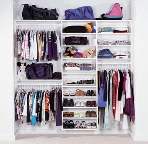 Pictures Of Reach In Closets | Reach In Closets · Teen Closet OrganizationClothing  ...