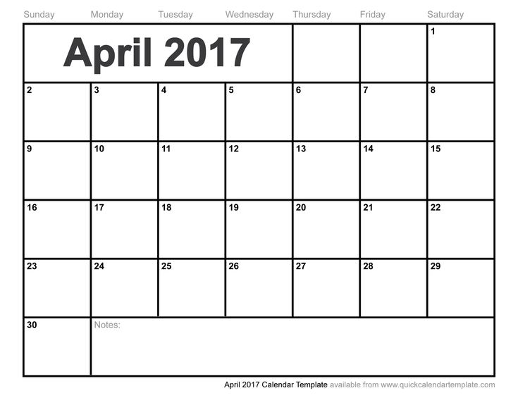 Calendar April 2016 To March 2017 3