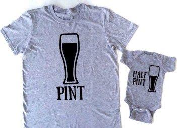 Pint And Half Pint T Shirt