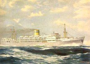 Paquete Pátria, ao serviço entre 1947-1973, transportava 798 passageiros