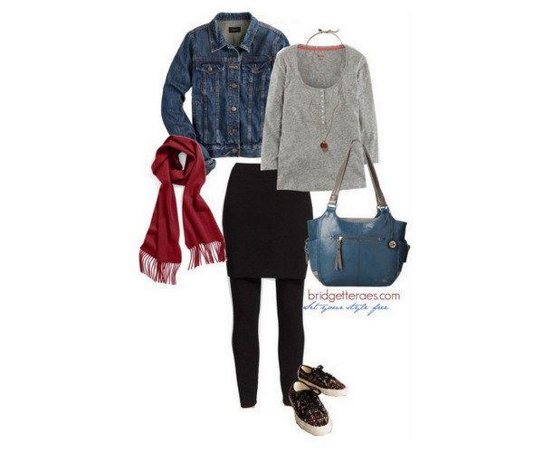 How to Wear Skeggings (Skirted Leggings) - Bridgette Raes Style Expert