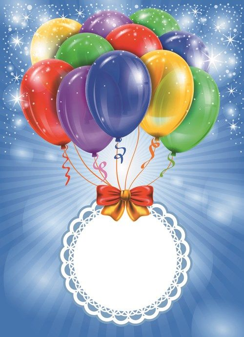 Happy Birthday Colorful Balloons background set 03 vector