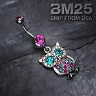 Vine Swirl Gem Dangle Belly Button Navel Ring New Fashion Steel Body Jewelry | eBay