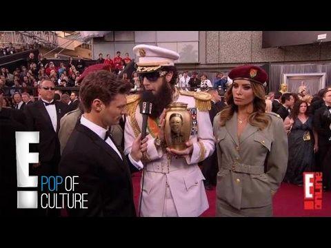 Sacha Baron Cohen Spills Ashes on Ryan Seacrest - 2012 Oscars | E! - YouTube