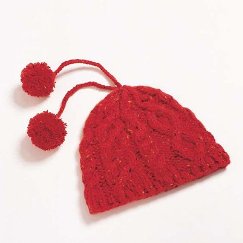 CASHMERE CABLED HAT