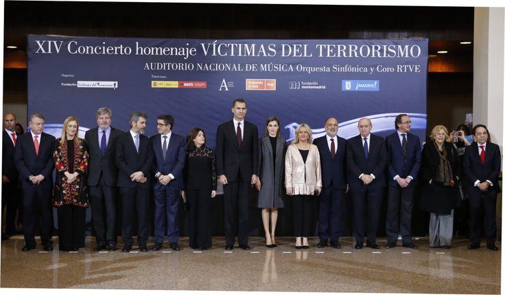 Don Felipe y doña Letizia presidieron en el Auditorio de Madrid el XIV Concierto homenaje a las víctimas del terrorismo. 11.03.2016