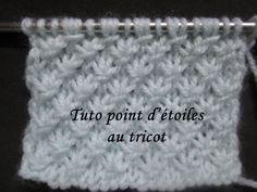 Pour réaliser le point d'étoile au tricot il faut monter un nombre de maille divisible par 4+1maille  Rang 1: tricoter toutes les mailles...