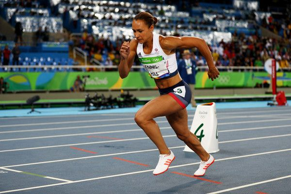 Jessica Ennis-Hill Photos Photos - Jessica Ennis-Hill of Great Britain competes in the Women's Heptathlon 800m on Day 8 of the Rio 2016 Olympic Games at the Olympic Stadium on August 13, 2016 in Rio de Janeiro, Brazil. - Athletics - Olympics: Day 8