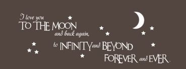 "For my boys ""I love you to the moon and back again,"