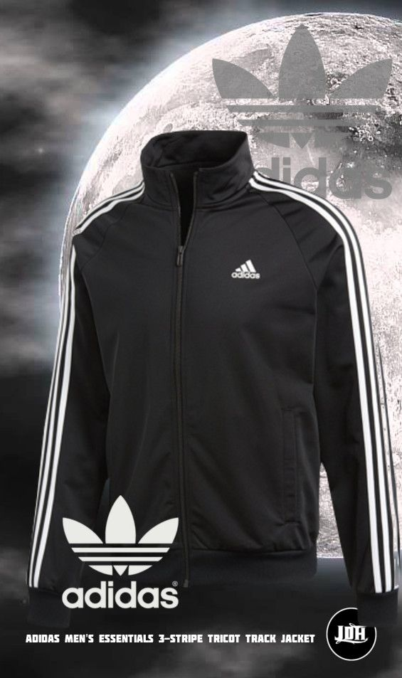 167b7ceffdcb adidas Men s Essentials 3-Stripe Tricot Track Jacket
