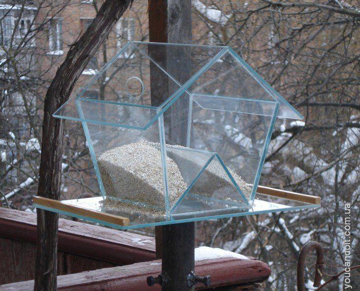 кормушка для птиц своими руками из подручных материалов - Поиск в Google