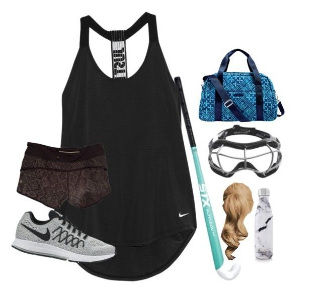 """Field hockey ootd today"" by elizabeth-preppy ❤ liked on Polyvore featuring NIKE, lululemon, Vera Bradley and S'well"