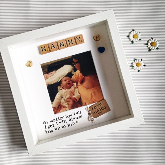Nanny Frame- personalised scrabble photo frame for Nana, Nanny, Nannie, Nan, Grandma, Great Nana
