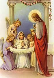 Resultado de imagen de oraciones para primera comunion catolica para compartir con la familia