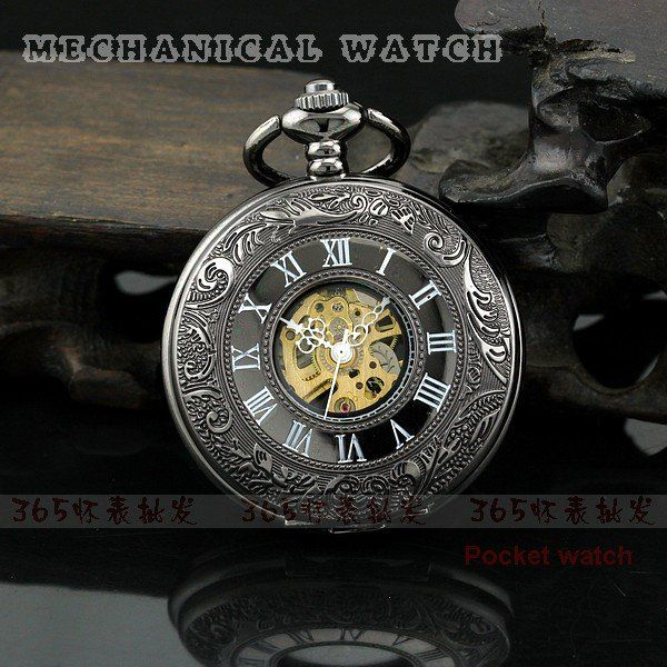 I've always always wanted a pocket watch!!  http://www.aliexpress.com/item/Free-Shipping-High-Quality-Black-Case-Roman-Number-Mechanical-Pocket-Watch/622969533.html