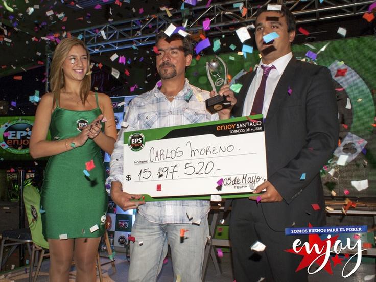 Carlos Moreno es el ganador de la 1º fecha del Campeonato Nacional EPS en Enjoy Santiago.