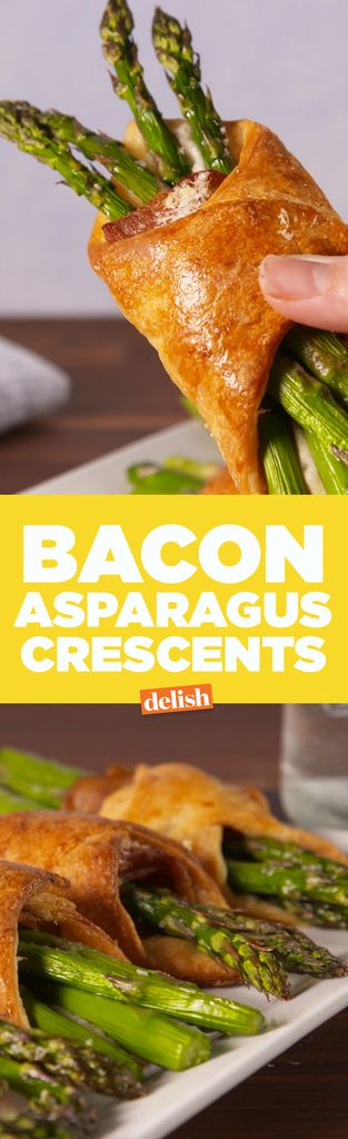 Bacon Asparagus Crescents