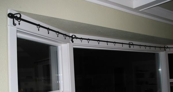 Curtainrod For Large Bay Window : Double Bow Window Curtain Rods IKEA for Your Window Treatment | Spotlats