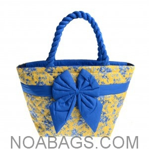 Petit sac à main d'été Fleuri Jaune et Bleu
