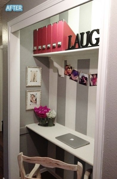 Convert Second Closet In Master To This Mirror And Make Up Home Office Inspiration