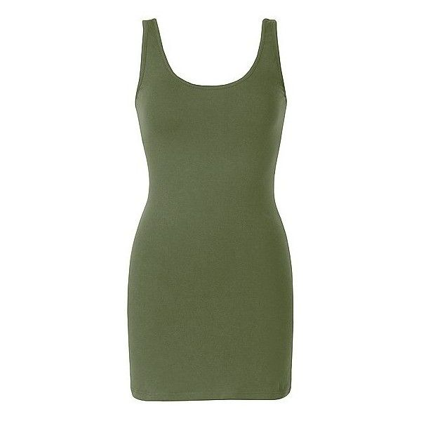 BKE Scoop Tank Top ($17) ❤ liked on Polyvore featuring tops, green, scoop top, extra long tank tops, green tank, scoop tank top and extra-long tank tops