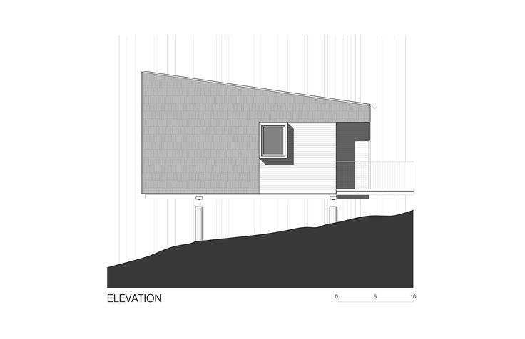 Imagen 13 de 16 de la galería de Cabañas campistas del parque regional Whitetail Woods / HGA Architects and Engineers. Cabin Elevation 1