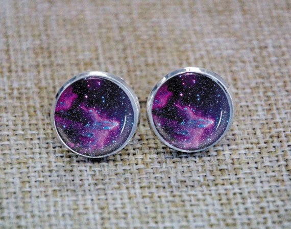 Mens earrings studs earring studs Space Stud by Uniquependant, $9.99